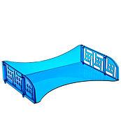 Лоток горизонтальный с широкой загрузкой ФИЛД тонированный голубой