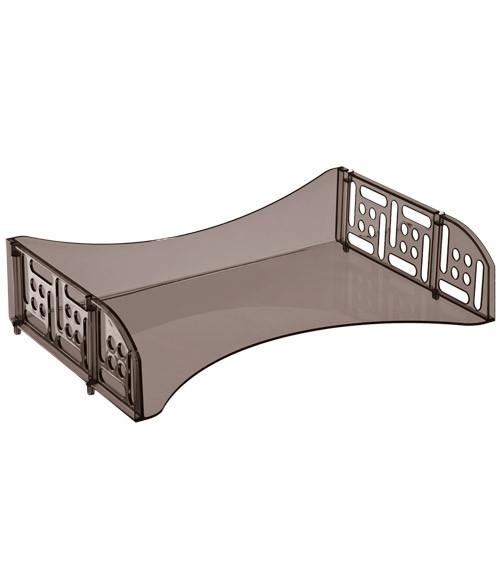 Лоток горизонтальный с широкой загрузкой ФИЛД тонированный коричневый