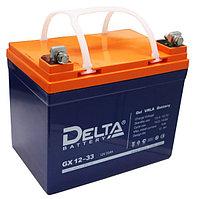 Гелевая аккумуляторная батарея GX12-33, 33 Ач, GEL, фото 1