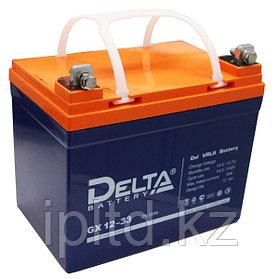 Гелевая аккумуляторная батарея GX12-33, 33 Ач, GEL