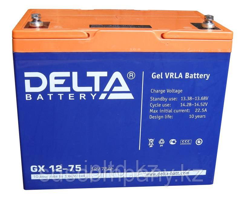 Гелевая аккумуляторная батарея GX12-75, 75 Ач, GEL