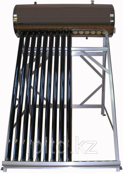 Солнечный водонагреватель с объемом бака 150 л, 18 трубок, система без давления, бак из нержавеющей стали