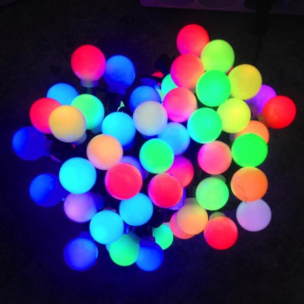 Гирлянда светодиодная 36 ламп мультишарики 5,5 метров