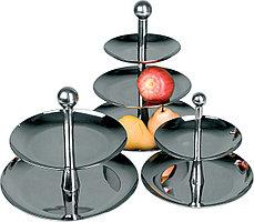 Этажерка (ваза для фруктов) двухъярусная 190 мм [9S-2S]