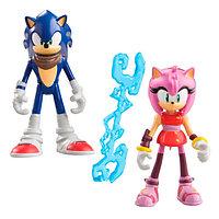 Набор Sonic Boom Соник Бум 2 фигурки в блистере 7,5 см Соник и Эми, фото 1