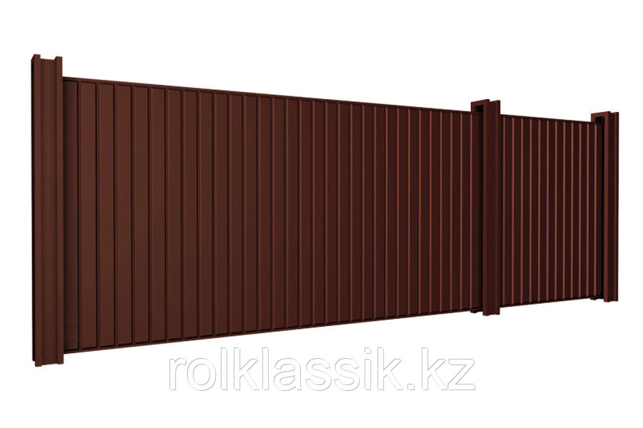 Откатные ворота 4400х2500 стандартные под профлист