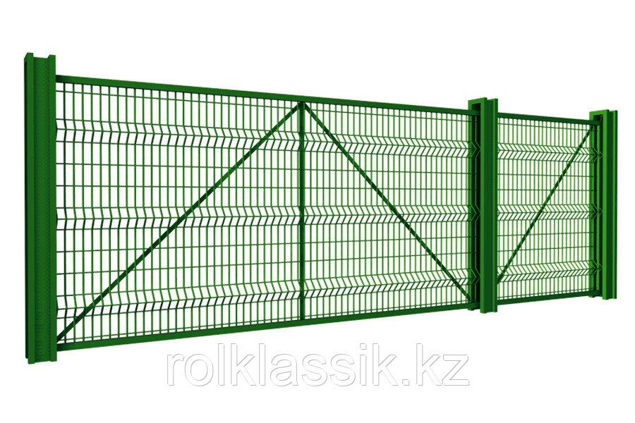 Откатные ворота 4400х2500 стандартные под сетку