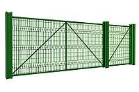 Откатные ворота 3500х2000 стандартные под сетку