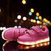 LED Кроссовки детские со светящейся подошвой, розовые, классические низкие