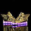 LED Кроссовки детские со светящейся подошвой, золотая рыбка