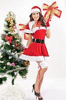 Бархатный Мисс Санта-костюм, фото 1