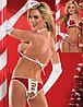 Откровенный наряд на новый год из красного бархата
