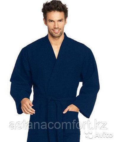 Банный набор. Вафельный халат и 2 полотенца. Россия.