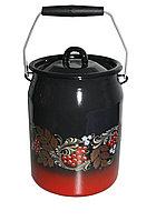 Бидон 3 л декор красно-чёрный с петлей С0612.8