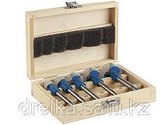 Сверло по дереву Форстнера набор 29945-H5, с твердосплавными вставками, 15, 20, 25, 30, 35мм, 5шт.