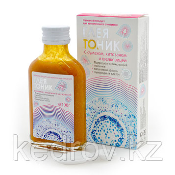 Глеятоник с сумахом, хитозаном и шелковицей (детоксикация токсинов, чужеродных клеток), 100 мл.