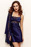 Женский комплект: атласная сорочка + кружевной халатик, фото 2