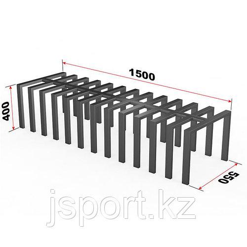 Велопарковка-скамья на 12 мест