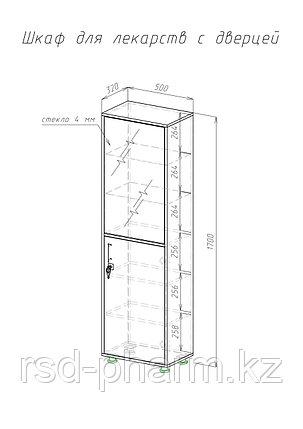 Шкаф для инструментов и медикаментов одностворчатый, фото 2