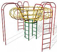 Игровой комплекс детский, лестница гимнастическая, турник, рукоход