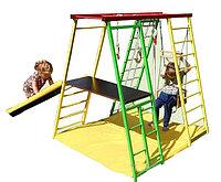 Игровой комплекс детский, лаз, гимнастическая лестница, сетка-лазалка, гимнастические кольца, рукоход