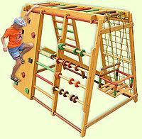 Игровой комплекс детский - Скалолаз, счёты, сеткалазалка, качеля, скалодром, рукоход, гимнастическая лестница
