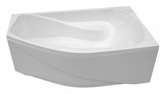 Акриловая ванна ассиметричная  ТРИТОН  Скарлет-левая ЭКСТРА (1670х960) в комплекте с каркасом