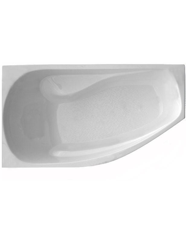 Акриловая ванна ассиметричная  ТРИТОН  Скарлет-правая ЭКСТРА (1670х960) в комплекте с каркасом