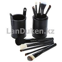 Набор кистей для макияжа MAC в тубусе черный (12 штук, чехол)