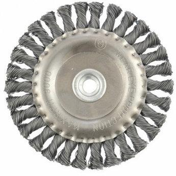 (74641) Щетка для УШМ 150 мм, М14, плоская, крученая  проволока 0,5 мм// MATRIX