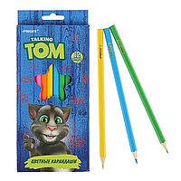 Карандаши 12цв Говорящий Том в карт/коробке TT16-BCL12