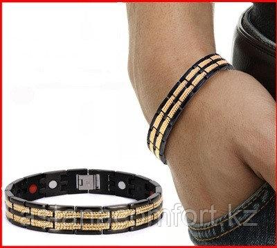 """Подарок для мужчин - магнитный браслет """"Квадро"""" - фото 1"""