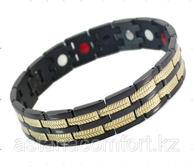 """Подарок для мужчин - магнитный браслет """"Квадро"""" - фото 2"""