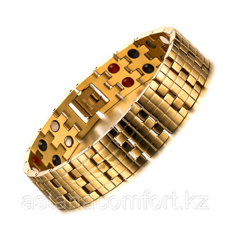 """Подарок для мужчин - магнитный браслет """"Квадро 2"""""""