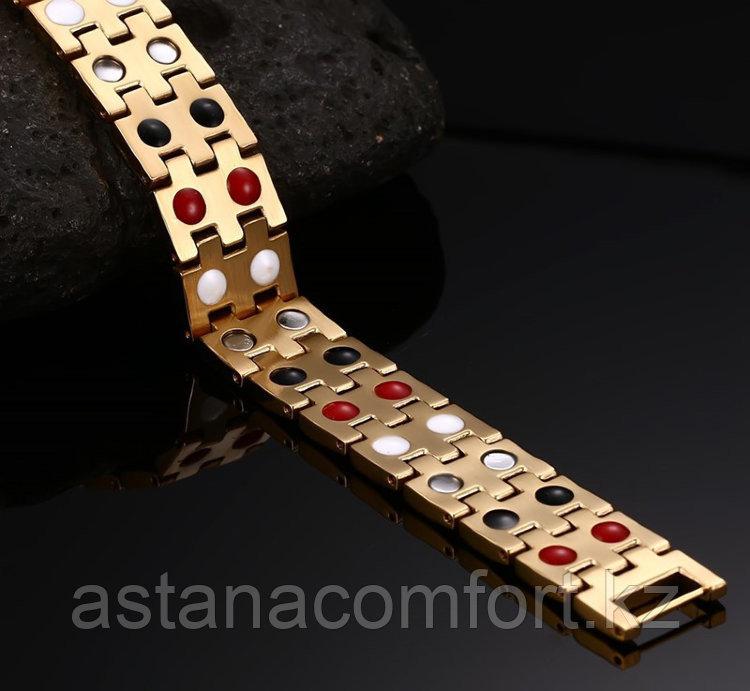 """Подарок для мужчин - магнитный браслет """"Квадро 2"""" - фото 3"""