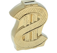 Копилка Доллар золото