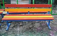 Лавочки со спинкой во разноцветные