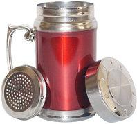 Термокружка Gentry Cup с ситечком 180мл, цвет красный, синий. серебро. Алматы