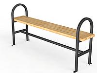 """Уличная скамейка без спинки """"Консоль"""" 1,5м"""