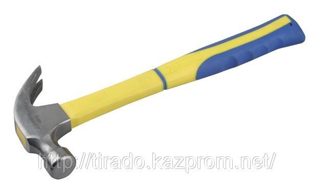 Молоток-гвоздодер STAYER со стеклопластиковой рукояткой, 450г