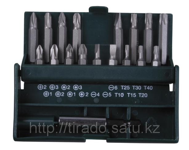 Набор KRAFTOOL Биты с магнитным адаптером в бит-боксе, 18 предметов