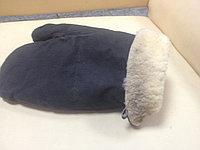 Рукавицы меховые трехпалые (овчина, ткань), фото 1