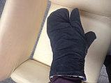 Рукавицы меховые трехпалые (овчина, ткань), фото 5