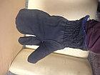 Рукавицы меховые трехпалые (овчина, ткань), фото 6