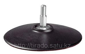 Тарелка опорная ЗУБР «МАСТЕР» резиновая для дрели под круг на липучке, d 115 мм