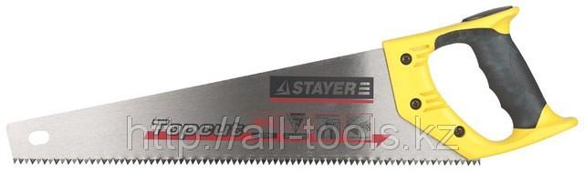 Пила STAYER «MASTER» по дереву, двухкомпонентная рукоятка, закаленный зуб, 5 TPI (5мм),