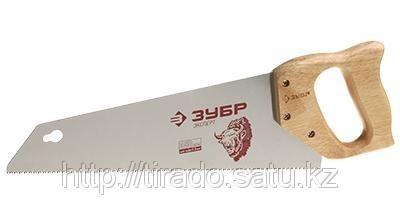 Ножовка ЗУБР «ЭКСПЕРТ»   для тонкого пиления, прямой мелкий закаленный зуб, деревянная