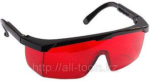 Очки STAYER защитные с регулируемыми по длине дужками, поликарбонатные красные линзы с
