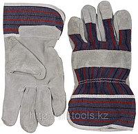 Перчатки STAYER «MASTER» рабочие комбинированные кожаные из спилка, XL