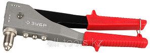 Заклепочник ЗУБР «МАСТЕР-180» поворотный 90-180 градусов, усиленный для алюминиевых заклепок,